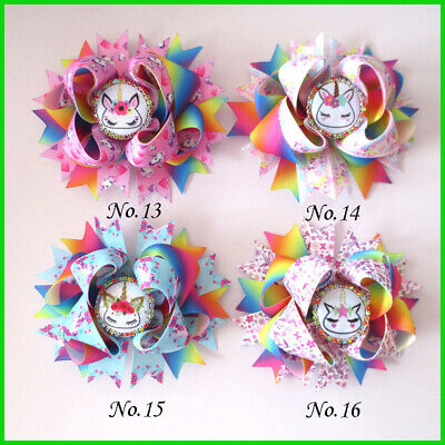 """100 BLESSING Good Girl Custom Boutique 2.5/"""" Wing Hair Bow Clip 420 No."""