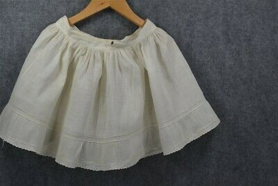 petticoat child baby doll Victorian Edwardian white lawn antique  repurpose