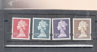 Gb 1999 High Value Machins Issued 9/3/1999 Umm/Mnh
