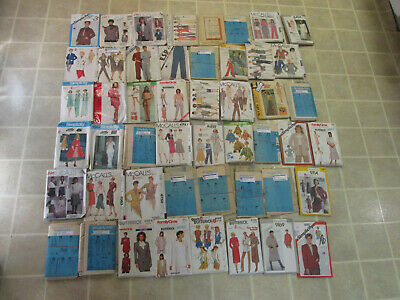 Lot of 49 McCalls Simplicity Butterick Vintage Simplicity Sewing Patterns 70-80s