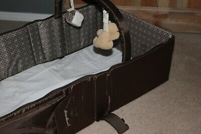 Eddie Bauer Portable Travel Baby Infant Sleeper Bed Unisex Color Brown