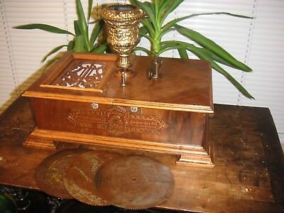 Weihnachten Symphonion Kalliope Symphonium Germany antique christmas music box