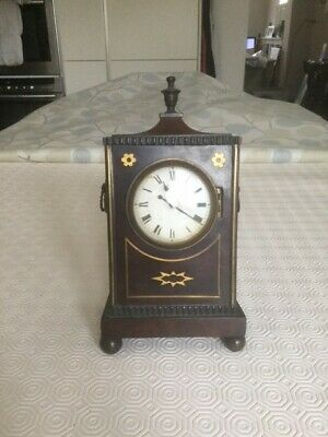 Small Mantel Clock with Inlay
