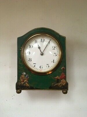 Small and Pretty Mantel Clock with Oriental Decoration