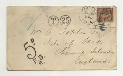 Usa - Sark, Rare 1895 Underpaid Cover To Toplis - See Description Below