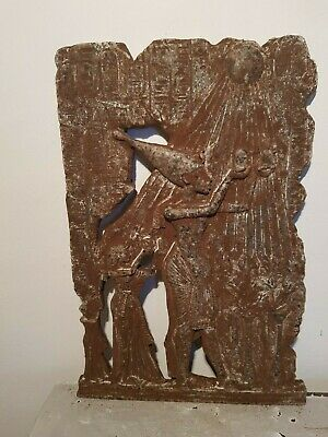 Rare Antique Ancient Egyptian Stela King Akhenaten Nefertiti God Sun1353–1336 BC