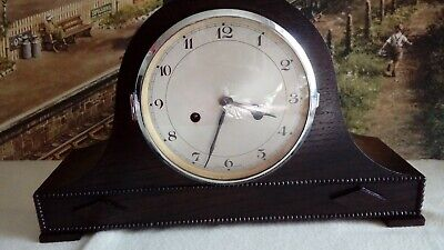 Napoleon Hat style striking clock in renovated serviced working condition
