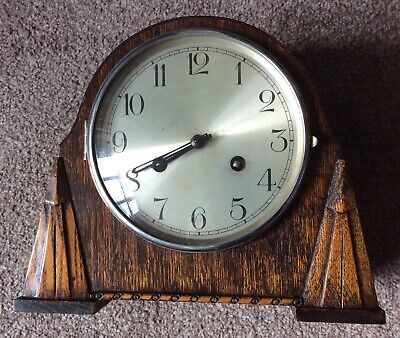 Art Deco - Vintage Westminster Chimes  Mantle Clock with Key & Pendulum