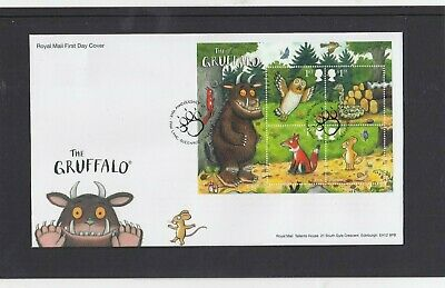 GB 2019 The Gruffalo owl MS RM First Day Cover Paw Lane Queenbury Bradford sp pk
