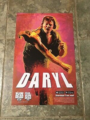 New York Comic Con 2019 - NYCC 2019 Daryl - TWD Large Topps Poster Card
