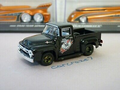 2018 M2 Machines Metallic Black '56 Ford F-100 - Holley Street Demon - Loose
