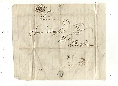 1812 Stampless Folded Letter To Baniff