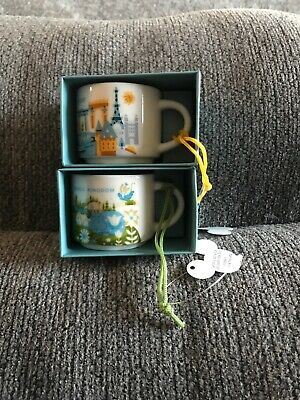 NEW Starbucks Disney Magic Kingdom Epcot YAH ORNAMENT mini-mug 2 oz