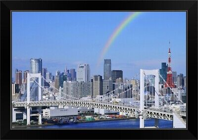 Tokyo Japan Skyline Rainbow Bridge Wall Art Sticker Mural Decal Home Decor BP11