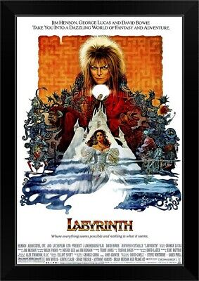 Labyrinth 1986 David Bowie Stretched Canvas Art Movie Poster Film Print Sci-Fi