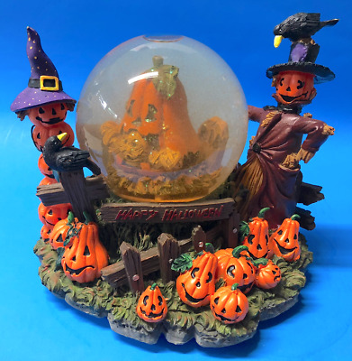 Halloween Village Decor  - Battery Operated Waterglobe W/ Spooky Sounds