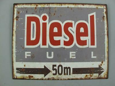 Metal Sign,Advertisement Sign, Diesel Fuel 164ft, Wall Sign 7 7/8x9 13/16in