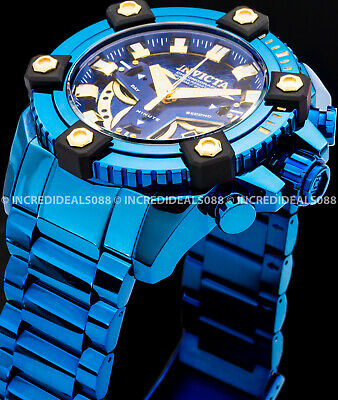 Invicta Grand Octane Coalition Force Blue Label Swiss Chronograph 63mm Watch