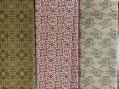 Stampin Up Designer Fabric ~ Candy Cane Deck The Halls Christmas Sweet Stitches