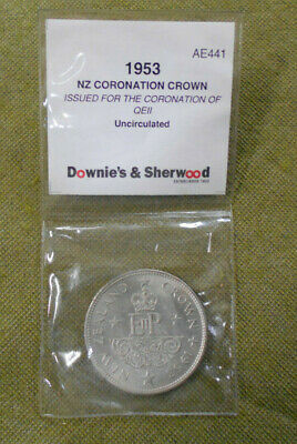 #C43. Uncirculated  1953  New Zealand Crown  Coin