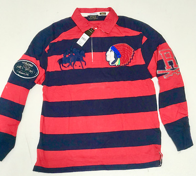 Mens Polo Ralph Lauren  Rugby Polo Long Sleeve Shirt Free Shipping