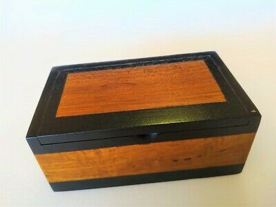 100% Teak Wood jewellery Storage hand craft Box ceylon  wooden