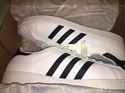 ADIDAS MENS SUPERSTAR Leather Low Top, WhiteCore Black