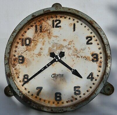 "Gents Of Leicester Vintage Iron Industrial Wall Clock- 12"" Dial"