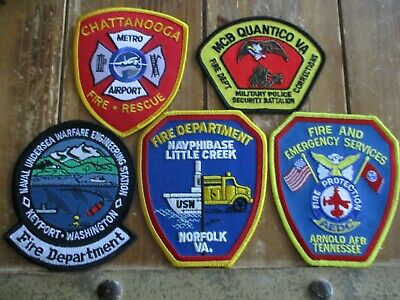 5 ARFF/Military Fire Patches #22