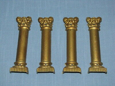 Antique Ingraham Mantle Clock Column Set Trim Parts Ornaments