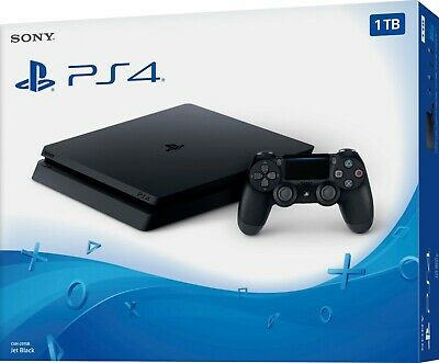 [PS4 500 GB Slim nera] PlayStation 4 console SONY con joystick  play 4 chassis