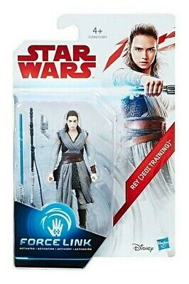 "STAR WARS Force Link - REY (JEDI TRAINING) 3.75"" Action Figure, New, Hasbro 2017"
