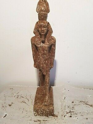 Rare Antique Ancient Egyptian Statue King Ramses uniify Crown Sward1279–1213BC