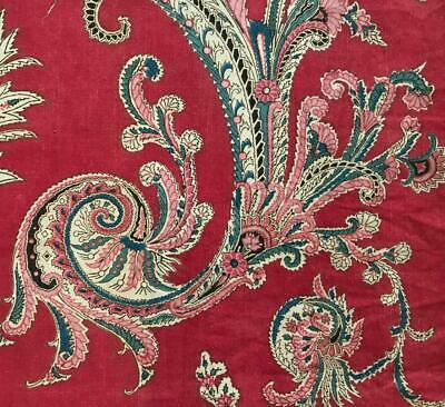 BEAUTIFUL EARLY 19th CENTURY FRENCH BLOCK PRINT INDIENNE c1810-20 197