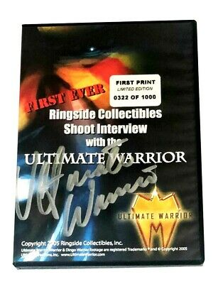 Wwe The Ultimate Warrior Hand Signed Autographed Limited Edition Dvd With Coa