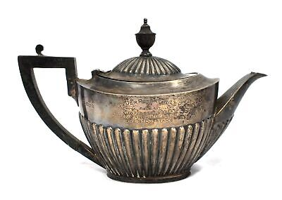 GOLDSMITHS & SILVERSMITH CO LTD Teapot STERLING SILVER Antique Military - H24