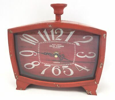 Rustic Style OLD TOWN CLOCKS London Red Clock - F13
