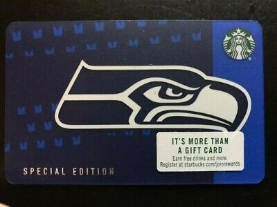 Starbucks 2018 SPECIAL ED.  SEATTLE SEAHAWKS Card, New, pin intact, no swipes!