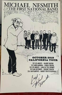 Michael Nesmith Limited Edition Silk Screened FNB Tour Print