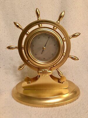 Antique Ships Wheel Aneroid Barometer