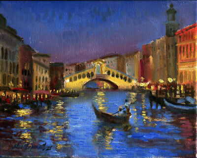 Venice Italy 8x10in. Original Oil on canvas  HALL GROAT II