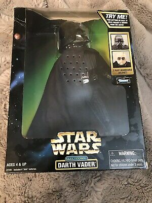 """1998 Kenner Star Wars Electronic Darth Vader 12"""" Action Figure Used Open Box"""