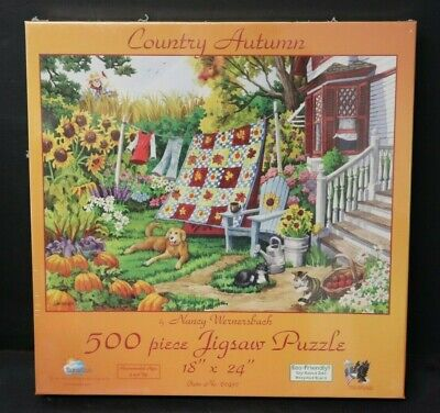 Sunsout 500  Piece Jigsaw Puzzle Country Autumn