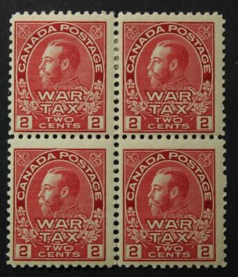 Canada #MR2, MH OG Block Of 4 War Tax Issue