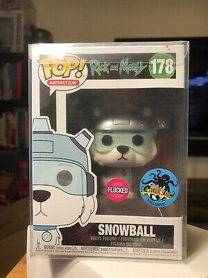 Funko Pop Animation 178 Snowball Flocked Rick And Morty LACC With Protector