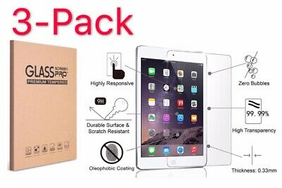 [3-Pack] Tempered GLASS Screen Protector for Apple iPad 6th Generation 2018