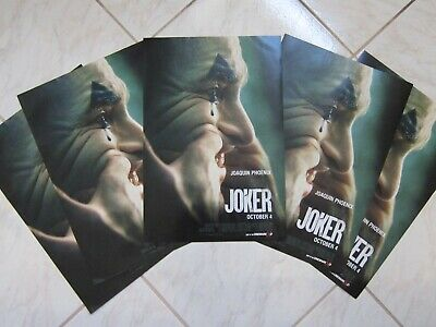 JOKER 2019 Lot Of 5 Original Cinemark XD Exclusive Mini Movie Posters J Phoenix