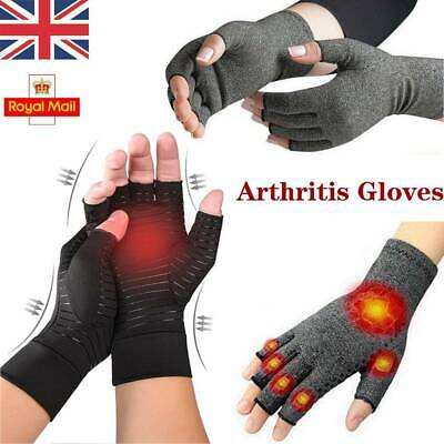 1 Pair Anti Arthritis Gloves Hand Support Pain Relief Finger Compression Therapy