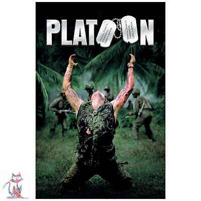 PLATOON 1986 Movie Poster Classic Movies Glossy Art Print A3 or A4 Size