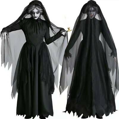 CA708 Ladies Bloody Mary Legend Ghost Costume Halloween Horror Scary Dress Up